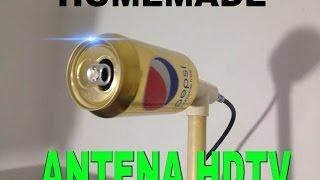 HOW TO MAKE HOMEMADE HD ANTENNA,WITH CAN OF PEPSI. *plazacamacho*
