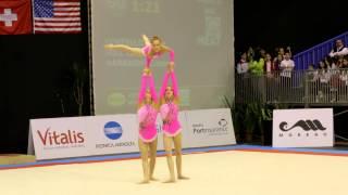 Gymnastics MIAC 2014 AG1 WG Balance GBR Heathrow