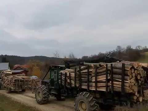 Zrywka drewna w Bieszczadach Tree Farmer C5D i Forwarder Timberjack 230d Nie Lkt