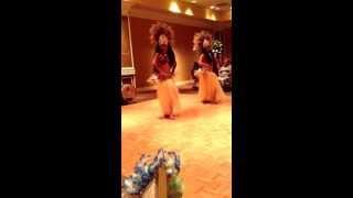 Hula girls grass skirt
