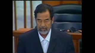 صدام حسين ينصدم عند سماع حكم الإعدام