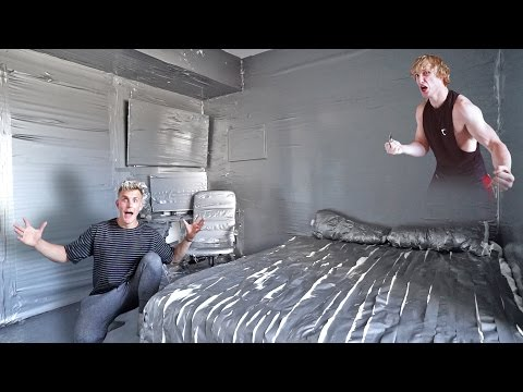 I DUCT TAPED MY BROTHERS ENTIRE ROOM PRANK WARS LOGAN VS. JAKE