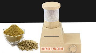 DIY Amazing Mini Blender Machine from cardboard at Home