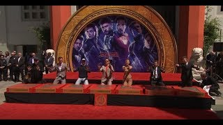 Original six Avengers honoured with hand-print ceremony at TCL Chinese Theater