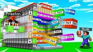 MINECRAFT TNT WARS GOD vs TNT WARS NOOB!