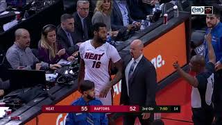 MMA FIGHT IN NBA - Serge Ibaka vs James Johnson | Heat vs Raptors | 01.10.2018