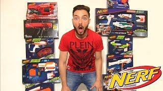 JE TEST TOUT LES NERF XXL ! ( Mitraillette Sniper Elite War ! )