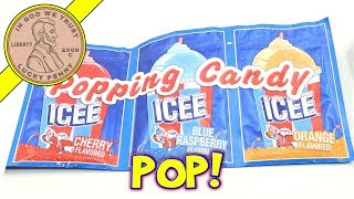 Dip-N-Lik Icee Pop Rocks Popping Candy - Cherry - Orange - Blue Raspberry & Watermelon
