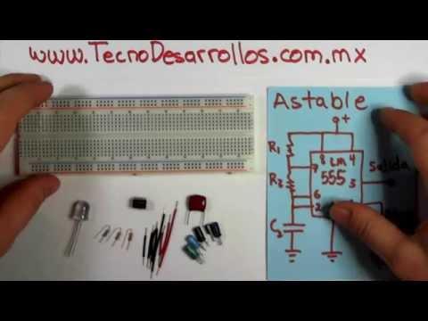 Astable con LM555 Oscilador o generador de señal cuadrada