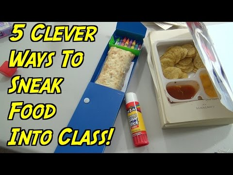 5 School Hacks You Can Do When You re Hungry How To Sneak Food Into Class HOW TO HACK