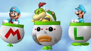 New Super Mario Bros. Wii - All Airship Levels (2 Player)