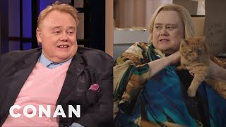 "How Louie Anderson Got The Role Of Zach Galifianakis' Mom On ""Baskets"" - CONAN on TBS"