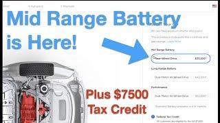 Cheaper Tesla Model 3 - Mid Range Battery