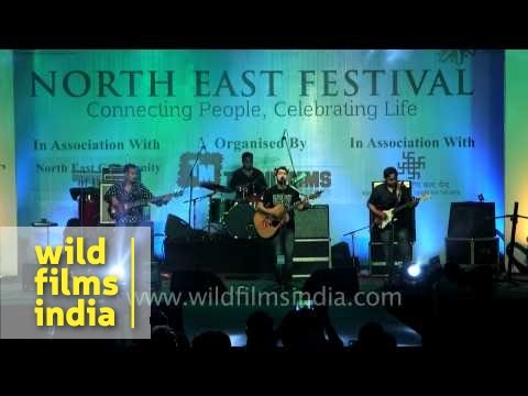 Late Too Soon band performs at Northeast Festival 2014, Delhi