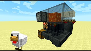 Smallest Fully Automatic Chicken Cooker for Minecraft 1.8 (3x3x3 Chicken Cube tutorial)