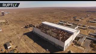 Panoramic Baikonur flyby: Take an exclusive bird