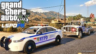 LSPDFR #549 NYPD HIGHWAY PATROL!! (GTA 5 REAL LIFE POLICE PC MOD) SINGLE PLAYER #600K