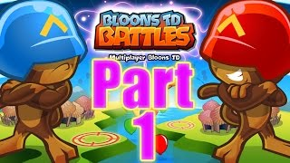 Bloons TD Battles Gameplay Playthrough Part 1 - VICTORY is OURS (IPAD)