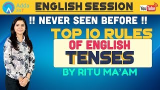 Top 10 Rules Of English   Tenses   Part -1   Ritu Ma'am