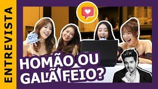 Stellar reage a galãs brasileiros   Kpop Idol reacts to Brazilian Male Celebrities