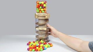 Wow! Amazing DUBBLE BUBBLE GUMBALL Machine DIY