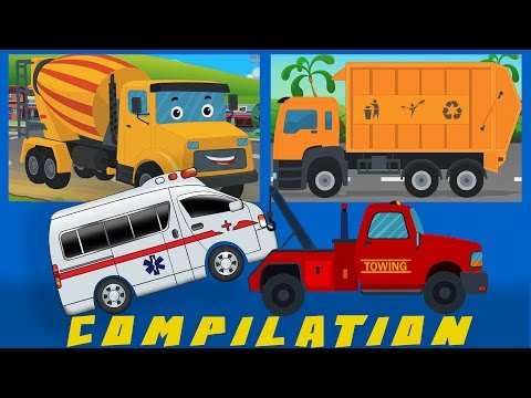 COMPILATION Cars And Heavy Vehicles kids videos learn street vehicles