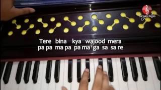 Tum Hi Ho from Aashiqui 2 on Harmonium sargam | Raag Bhairavi Song | Piano Song Notes