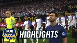 USA vs. Argentina | 2016 Copa America Highlights