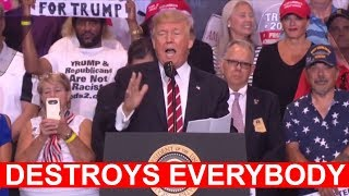 WOW! WATCH HOW PRESIDENT DONALD TRUMP DESTROYS EVERYONE IN HIS PATH, CNN FAKE NEWS, NEW YORK TIMES