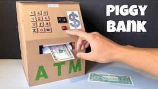 How to Make ATM Machine For Kids - Homemade Piggy Bank