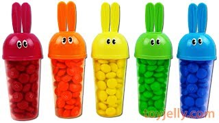 Learn Colors Bunny Popsicle Ice Cream Mold M&M