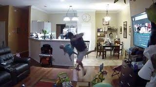 Epic dad Reflexes Saves Falling Baby