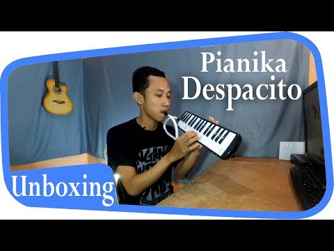 Gara-Gara Despacito Jadi Beli Ini ( Pianika Super Pro Warna Hitam Unboxing Indonesia )