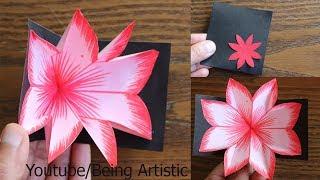 DIY Flower Pop up Card-Paper Crafts-Handmade Craft