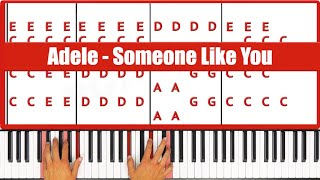 ♫ ORIGINAL - How To Play Someone Like You Adele Piano Tutorial Lesson - PGN Piano