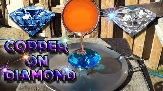 Molten Copper vs Blue Glass Diamond