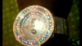 42. Carat Rose Gold Lab Made Diamond Watch Custom Made Fully Iced Out