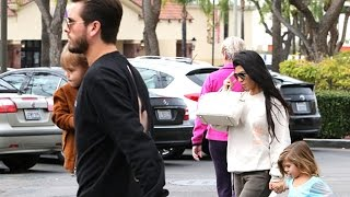 Scott And Kourtney Get A Family Lunch At King