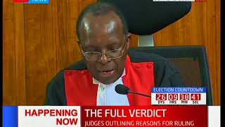 Supreme Court Judge, Jackton Ojwang' outlines his dissenting verdict [Part 2]