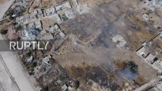 Syria: Drone shows SAA strikes on militant positions in Ain Tarma