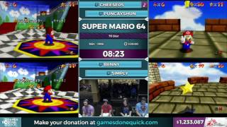 SGDQ 2016 - Super Mario 64 70 Star Race In 49:01 by Puncayshun, Biinny, Simply, and Cheese05