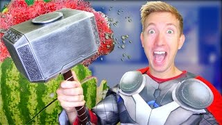 5 Avengers Weapons in REAL LIFE & Spiderman