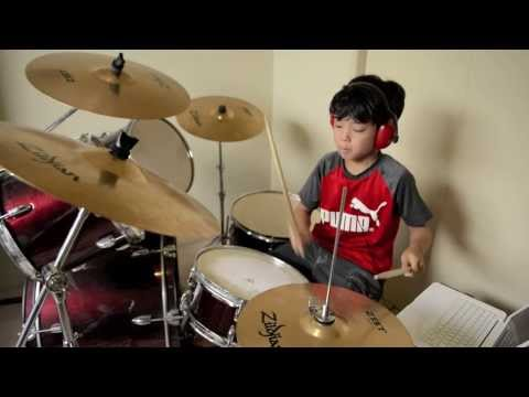 Counting Stars - OneRepublic - Drum Cover By 10 Year Old Joh Kotoda
