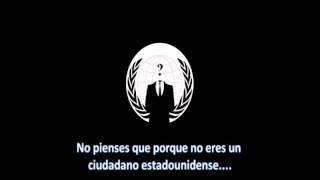 Video Oficial de Anonymous tras atacar servidores de USA x Cierre Megaupload (subtitulado español)