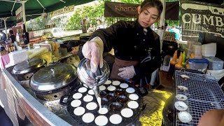 London Street Food from Thailand, The Kanom Krok Pancake and the Pad Thai Noodles. Borough Market