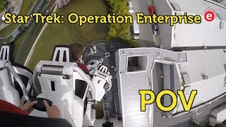 Star Trek™: Operation Enterprise Launch Roller Coaster @ Movie Park - front seat & back seat POV