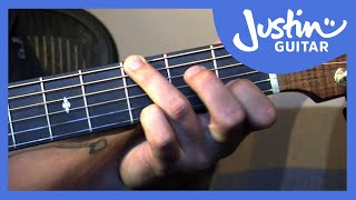 Fingerstyle Major Chord Scale Relations - Folk Guitar Lesson - JustinGuitar [FO-104]