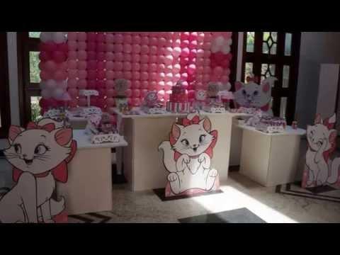 Decoração Gatinha Marie com Mega mesa Cubos By Bruna Quelhas Vídeo II