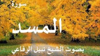 سورة المسد بصوت نبيل الرفاعي
