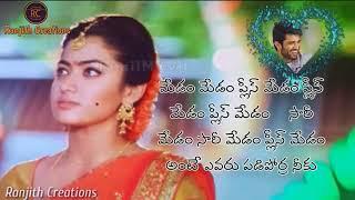 Geetha Govindham Climax Scene Heroine Dialouge Whatsapp Status Video|| Geetha Govindam